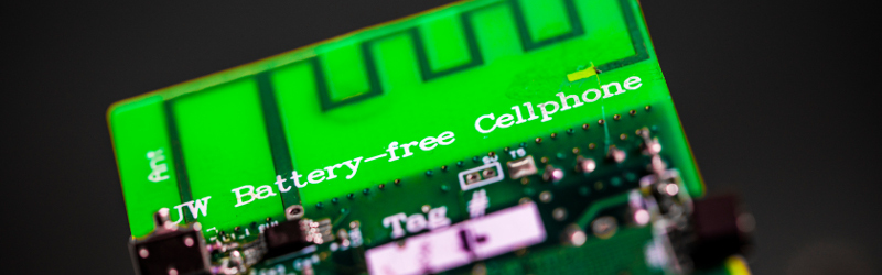 First battery-free cell phone